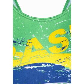 Turbo Brasil Wide Strap Swimsuit Damen green/yellow
